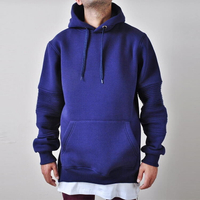 Cotton Kangaroo Pocket Side Slit Hoodie